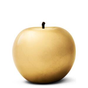 Designobjekt Apfel gold Keramik lasiert glänzend handgefertigt Blattgold Unikat Wohnaccessoire Dekoration Chapeau Marén Hamburg Hafencity Elbphilharmonie