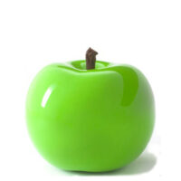 Designobjekt Apfel grün Keramik lasiert glänzend handgefertigt Wohnaccessoire Dekoration Chapeau Marén Hamburg Hafencity Elbphilharmonie