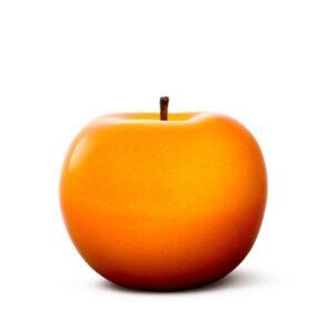 Designobjekt Apfel orange Keramik lasiert glänzend handgefertigt Wohnaccessoire Dekoration Chapeau Marén Hamburg Hafencity Elbphilharmonie