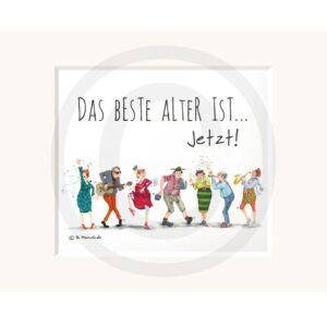 Passepartout Illustration Museumsqualität Humor Kreativ Geschenk Wohnaccessoire Dekoration Chapeau Marén Hamburg Hafencity