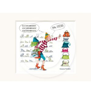 Passepartout Illustration Museumsqualität Humor Kreativ Geschenk Wohnaccessoire Dekoration Chapeau Marén Tom und Konsorten Hamburg Hafencity