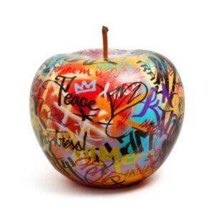 Designobjekt Apfel Graffiti Keramik lasiert glänzend handgefertigt Unikat Sonderedition Wohnaccessoire Dekoration Chapeau Marén Hamburg Hafencity Elbphilharmonie