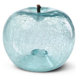 Designobjekt Apfel Crackled Glass Aquamarine Designobjekt mundgeblasen Lisa Pappon indoor outdoor Chapeau Marén Hamburg Hafencity Elbphilharmonie Wohnaccessoire